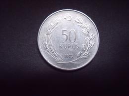TURQUIE = 5  MONNAIES DE 1973- 1977- 1982 - 1991- 1995 - Turquie