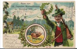 Ger460 / Sonderbildkarte Zum Bundesschiessen Hannover 1903 - Allemagne