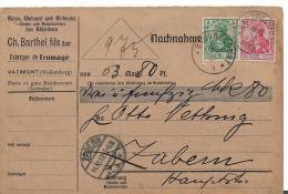 EL086 / ELSASS -  Von Käsefabrik  Vatimont, Wallersberg Nach Zabern 1912 - Allemagne