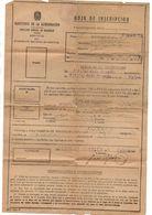 Papel Hoja De Inscripcion De Dni Albalat Dels Sorells 1952 - Oude Documenten