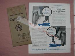 Continental Pneus 3 Expl.  = 1 Michelin  + 1 P. Barthelat  Voir Photos L'ensemble En T.B.E. - Automobile