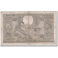 Billet, Belgique, 100 Francs-20 Belgas, 1938, 1938-04-28, KM:107, TB - [ 2] 1831-... : Belgian Kingdom