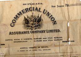 Papel Hoja De Assegurance Company Limited, Union Comercial De 1925 - Spain