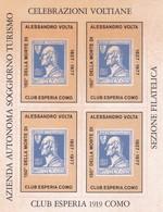 ITALIA  REPUBBLICA   150° DELLA MORTE DI ALESSANDRO VOLTA 1977 CLUB ESPERIA 1919 COMO - Italie
