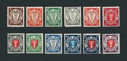 DANZIG 1924-37 - Stemma Di Danzica In Ovale - MH - Yvert:DA 176A-185 - Dantzig