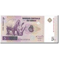 Billet, Congo Democratic Republic, 5 Francs, 1997, 1997-11-01, KM:86a, NEUF - Congo