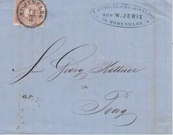 AUTRICHE  LETTRE DE HOHENELBE 1860 - Briefe U. Dokumente