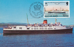 D33154 CARTE MAXIMUM CARD 1982 ISLE OF MAN - FERRY LIVERPOOL TO DOUGLAS CP ORIGINAL - Ships
