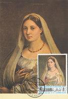 D33158 CARTE MAXIMUM CARD 1968 RAS ALKHAIMA - LA DONNA VELATA BY RAPHAEL CP ORIGINAL - Art