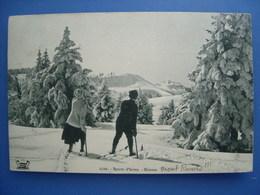 (ski, Savoie) Skieurs Au Mont Revard, 1913, TBE. - Aix Les Bains