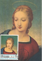D33159 CARTE MAXIMUM CARD 1968 RAS ALKHAIMA - GOLDFINCH MADONNA BY RAPHAEL CP ORIGINAL - Madonna