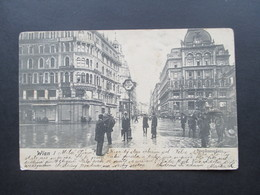 AK Österreich Wien I 1905 Stephansplatz. Schild Cafe Rebhun. Th. Cook&Son. Zahnarzt Dr. Mittler - Stephansplatz