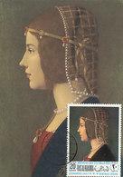 D33160 CARTE MAXIMUM CARD 1968 RAS ALKHAIMA - PORTRAIT OF A LADY BY DE PREDIS 15th Cent. CP ORIGINAL - Art