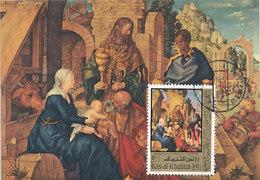 D33161 CARTE MAXIMUM CARD 1972 RAS ALKHAIMA - ADORATION OF THE KINGS BY DÜRER CP ORIGINAL - Religious