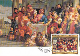 D33162 CARTE MAXIMUM CARD FD 1975 REP. MALI - EMMAUS BY VERONESE CP ORIGINAL - Religious