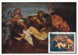 D33163 CARTE MAXIMUM CARD 1974 REP. MALI - ENTOMBMENT BY TIZIANO CP ORIGINAL - Religione