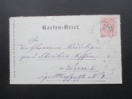 Österreich 1889 Kartenbrief. Pöstschach Am See Kärnthen Nach Wien Mit AK Stempel Wien Central - Briefe U. Dokumente