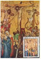 D33164 CARTE MAXIMUM CARD 1974 REP. MALI - CRUCIFIXION - UNKNOWN 14th Cent. CP ORIGINAL - Religious