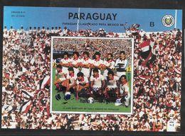 Paraguay Bloc Surchargé CM 90 ** - Coupe Du Monde