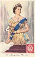 D33165 CARTE MAXIMUM CARD 1952 GREAT BRITAIN - QUEEN ELIZABETH II CP ORIGINAL - Royalties, Royals