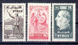 1956; 10e Anniversaire De L'evacuation Des Troupes Etangéres, Michel No 683-685; Neuf **, Lot 49694 - Syrien