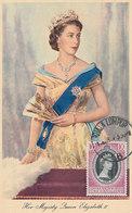 D33167 CARTE MAXIMUM CARD RR 1953 MALAYA SELANGOR - QUEEN ELIZABETH II CP ORIGINAL - Royalties, Royals