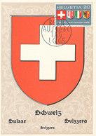 D33169 CARTE MAXIMUM CARD FD 1965 SWITZERLAND - COAT OF ARMS SCHWEIZ SUIISE CP ORIGINAL - Maximum Cards