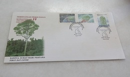 Malaysia FDC 14th Cmmonwealth Forestry Conference 13/09/1993 With Foxing - Malaysia (1964-...)