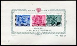 POLAND 1948 US Constitution Block, MNH / **.  Michel Block 11 - Blocks & Sheetlets & Panes