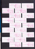 READ MY 8.5 Kilos Box Switzerland ATM Stamps, Foreign Package Card, FDC's, PTT Sheets With Advertising Stamping. - Schweiz