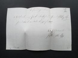 Österreich 1840 Brief / Briefpapier Mit Wasserzeichen. Interessant?? - Österreich