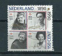 1990 Netherlands Complete Set Four Queens Used/gebruikt/oblitere - Periode 1980-... (Beatrix)