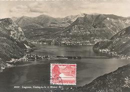 D33174 CARTE MAXIMUM CARD RRR 1949 SWITZERLAND - MELIDE BRIDGE DAM LAKE LUGANO CP ORIGINAL - Bridges