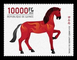 Guinea 2014 Mih. 10221 Fauna. Year Of The Horse MNH ** - Guinea (1958-...)