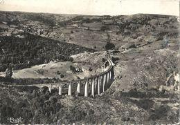 CPSM Riom-ès-Montagne Viaduc De La Lune Sèche Sur La Rhue Vue Aérienne - Autres Communes