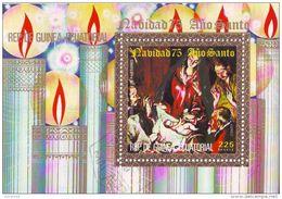 Guinea Equatoriale 1975 Sc. 75185  Quadro Dipinto Da El Greco Navidad Christmas Natale Paintings Anno Santo - Quadri
