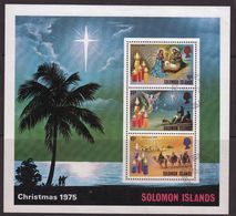 British Solomon Islands 1975 Christmas Mini Sheet. - British Solomon Islands (...-1978)