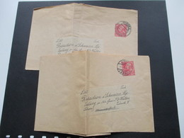 Österreich 1910 Streifbänder / Privatgansachen 2 Stück. An Die Redaction D. Schweizer Alpen Zeitung Zürich - 1850-1918 Imperium
