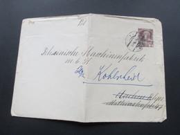 Österreich 1915 Grosser Privatumschlag 3 Heller. Gesendet Nach Aachen An Die Rheinische Maschinenfabrik. Weitergeleitet - 1850-1918 Imperium
