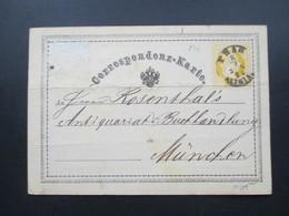 Österreich 1970 Ganzsache Nach München (Zusatzfrankatur Abgelöst) Fingerhutstempel Prag Altstadt. Antiquariat Rosenthal - 1850-1918 Imperium