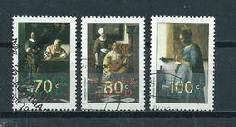 1996 Netherlands Complete Set J.Vermeer Art Used/gebruikt/oblitere - Gebruikt