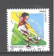 France Autoadhésif Oblitéré N°1285 (gestes Football - Coup Du Foulard) (cachet Rond) - France