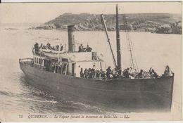 D56 - QUIBERON - LE VAPEUR FAISANT LA TRAVERSEE DE BELLE ISLE - Quiberon