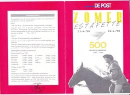 2350 6aa GUE  Divers Documents De La Poste   Poste 500 Ans 1ère Liaison Innsbruck Malines 21-6-1990   €14 - Documents De La Poste