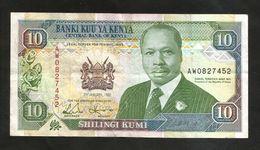 KENYA - CENTRAL BANK Of KENYA - 10 SHILLINGS (1992) - D. TOROITICH ARAP MOI - Kenia