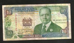 KENYA - CENTRAL BANK Of KENYA - 10 SHILLINGS (1991) - D. TOROITICH ARAP MOI - Kenia