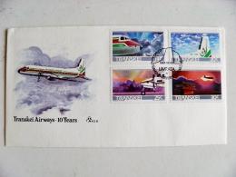 Cover Transkei Plane Avion Airplane 1987 Fdc Aviation - Transkei