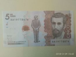 5000 Pesos 2015 - Colombia
