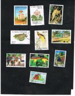 SAO TOME' E PRINCIPE (ST. THOMAS AND PRINCE) - 1988  / 2000  LOT OF 10 DIFFERENT STAMPS     - USED ° - Sao Tomé E Principe