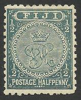 Fiji, 1/2 P. 1892, Sc # 53, Mi # 27, MH. - Fidji (...-1970)